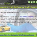 Need a Car? Bad Credit? :Companies That Refinance Auto Loans With Bad Credit